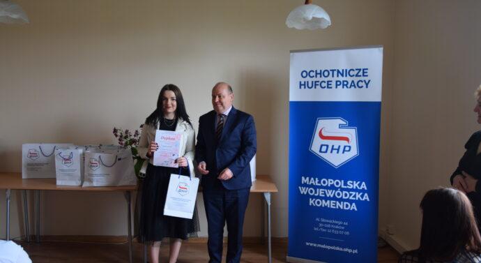 """""""Wiosna kulturalna 2021"""" – wręczenie nagrody dla naszej uczestniczki"""